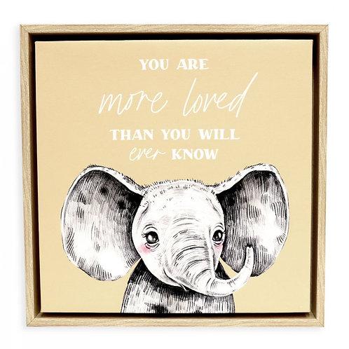 Elephant  Framed Canvas