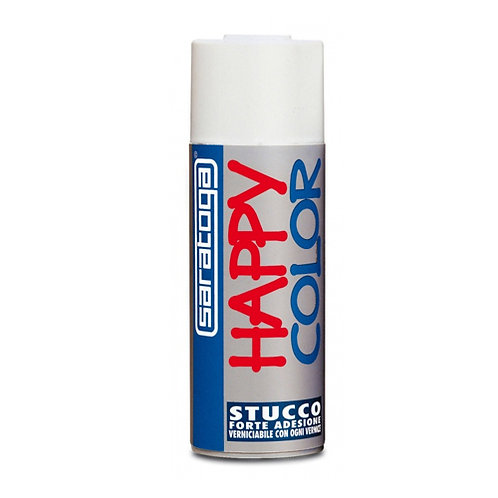 HAPPY COLOR FONDO STUCCO BIANCO VERNICE SPRAY 400 ML SARATOGA