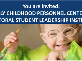 Apply for the Early Childhood Personnel Center (ECPC) Doctoral Student Leadership Institute
