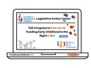 Action Alert to #FundEarlyChildhoodIDEA- Join us on Thursday, 10/3