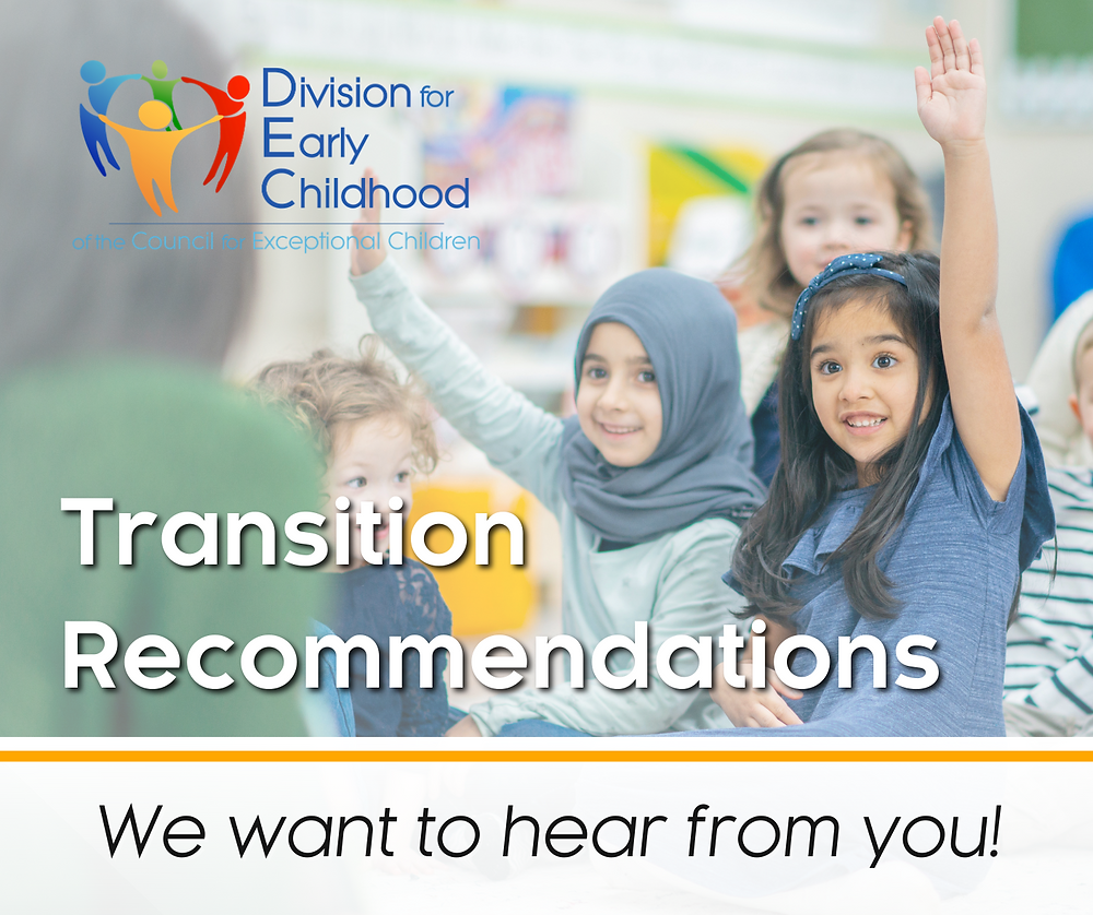 Transition Recommendations - We want to hear from you!