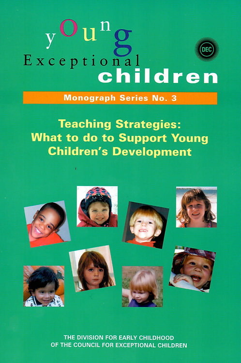 Young Exceptional Children Monograph No. 3