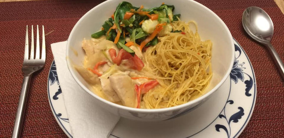 Panang Chicken Curry & Singapore Noodles