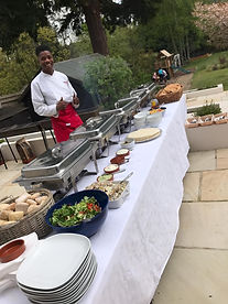BBQ spread with our Chef M-J
