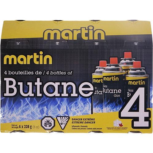 MARTIN Emballage de 4 bouteilles butane 228g