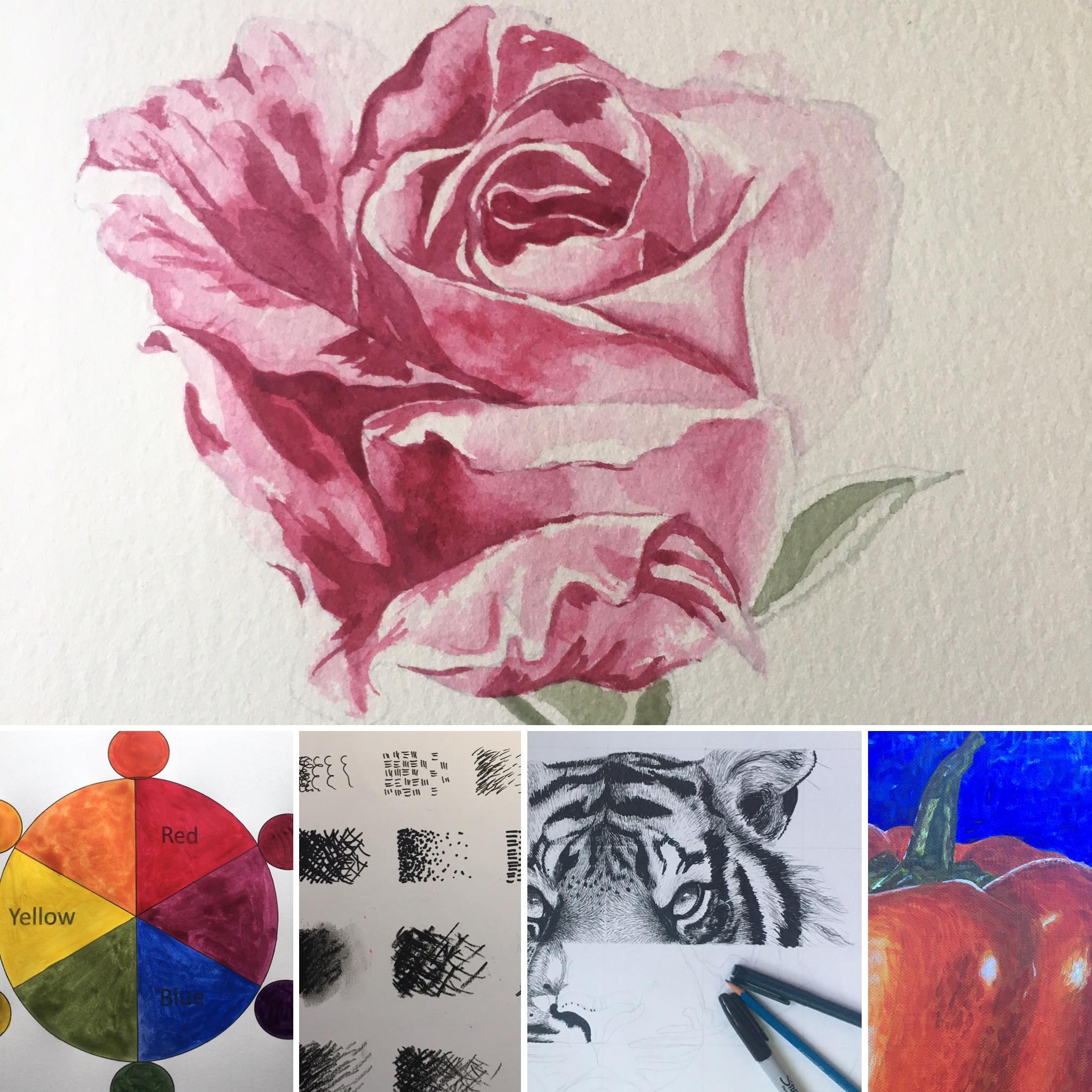 Wednesday, Highcliffe - Adult art class
