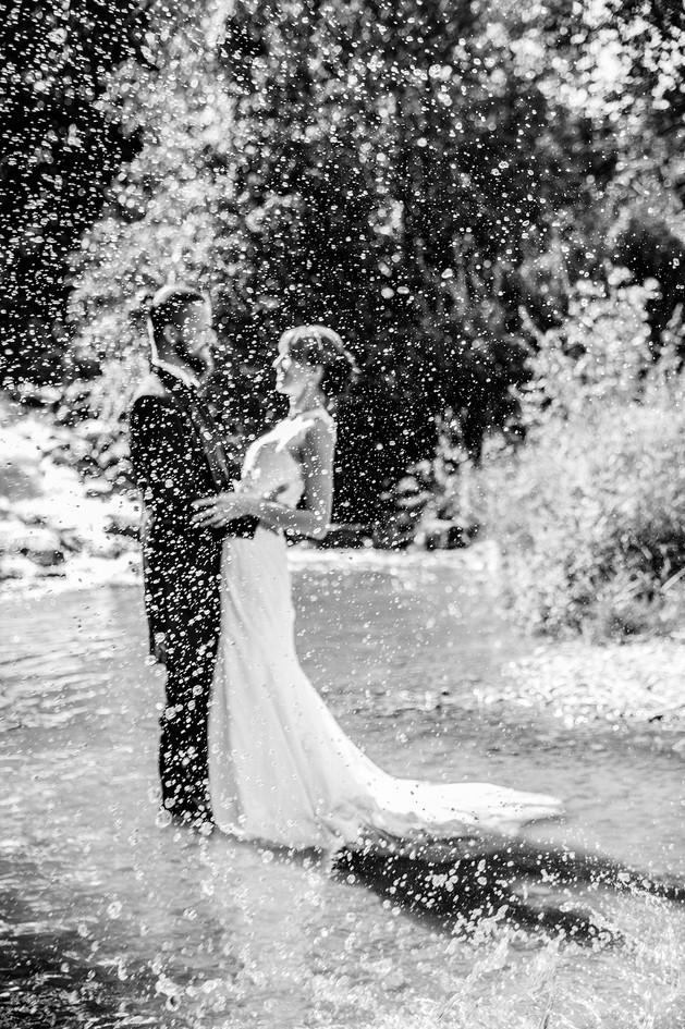 Hochzeitsfotos an der Iller