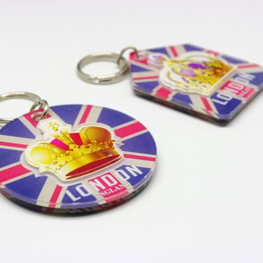 2D UK Tourist Magnets