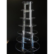 7-tier Acrylic Circle Cup Cake Stand
