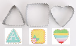 cookie cutter crinkle shapes