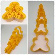 Gingerbread Man Cookie Cutter Set of 5
