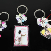 Photo Keychain with Charms