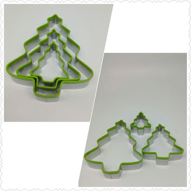 Stainless Steel Griped Christmas Tree Cookie Cutter