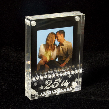 25th Annicersary Photo Frame with Crystals
