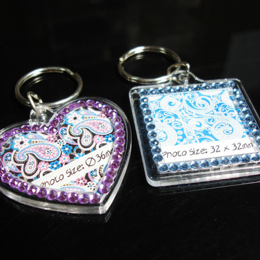 Blinking Keychain with Rhinestones