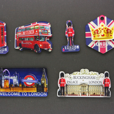 2D UK Tourist Magnets