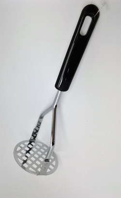 black handle potato masher