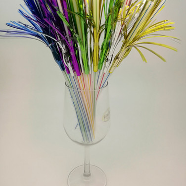 Foil Firework Party Drinking Straw