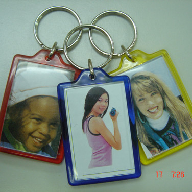 Colour Backed Photo Keychain
