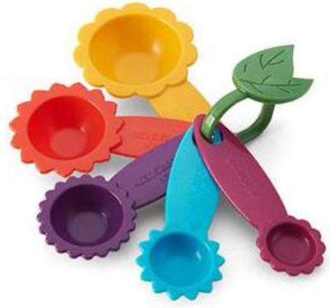 measuring spoons flower