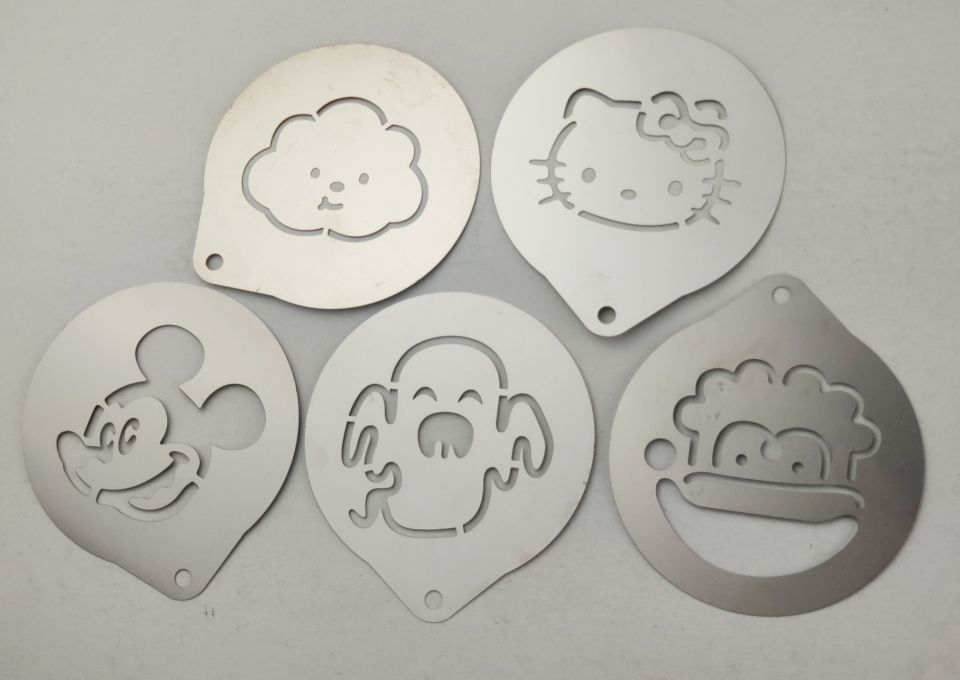 coffee stencils - characters