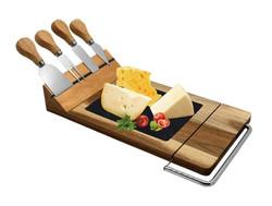 CK3031 Acacia cheese board w 4 knives +