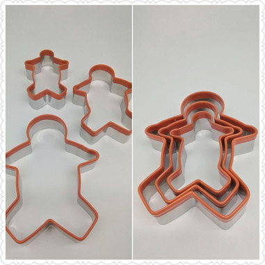 Stainless steel Griped Gingerbread Man Cookie Cutter
