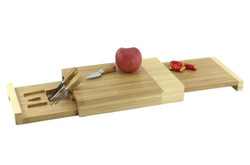 CK3013 3 T bamboo cheese board w 3 knive