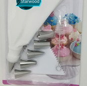 Icing Bag with 6 Tips & Mini Brush