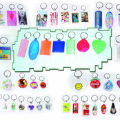 Snap-lid Keychain, Over 100 Styles