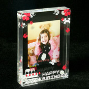Photo Frame for Birthday with Crystals