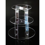 3-tier Acrylic Circle Cup Cake Stand