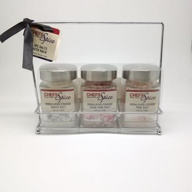 Set of Himalayan Coarse White/Dark Pink/Pink Salt