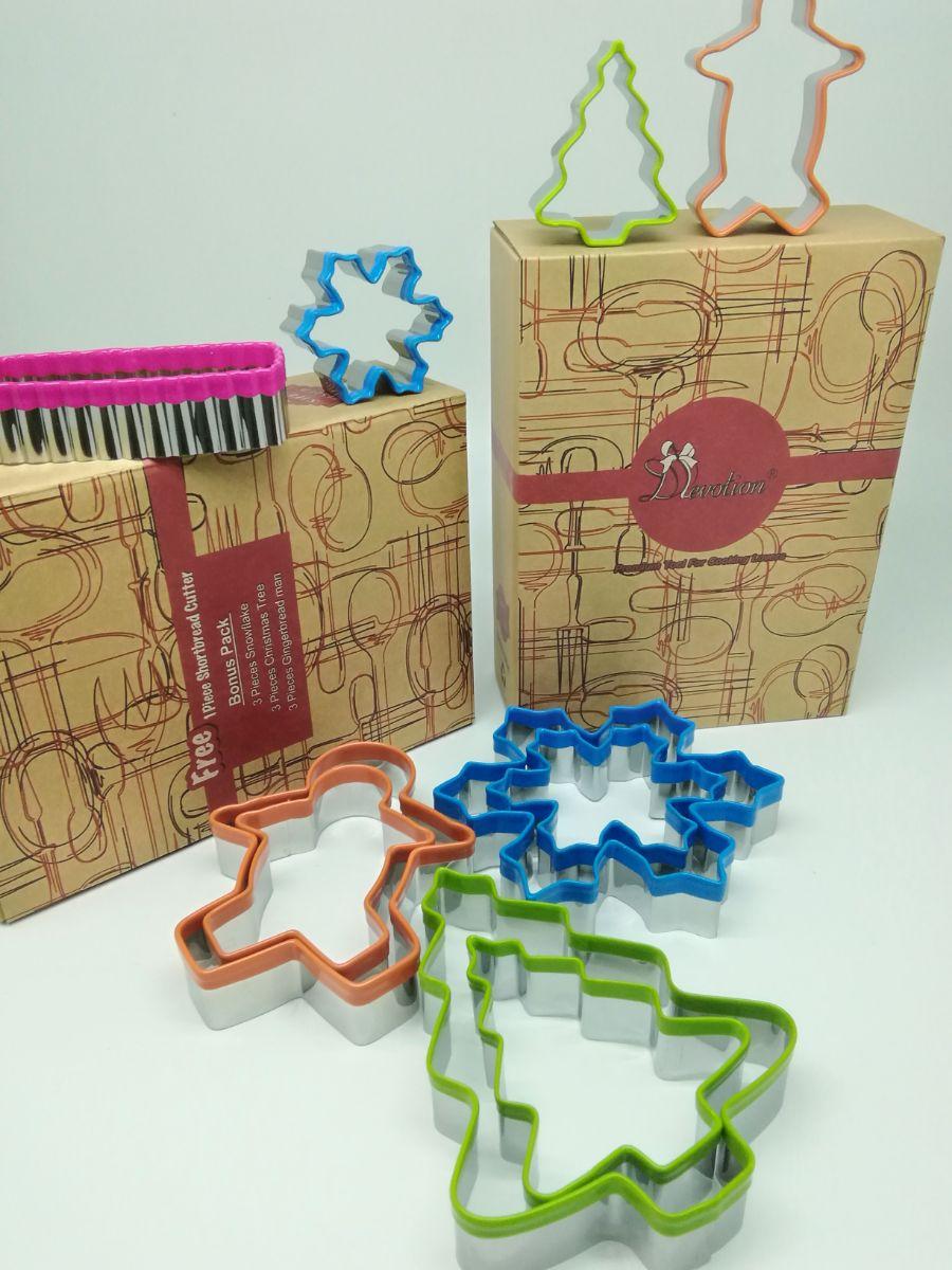 17SWBT10B02 Colourful cookie cutters -10 pieces set