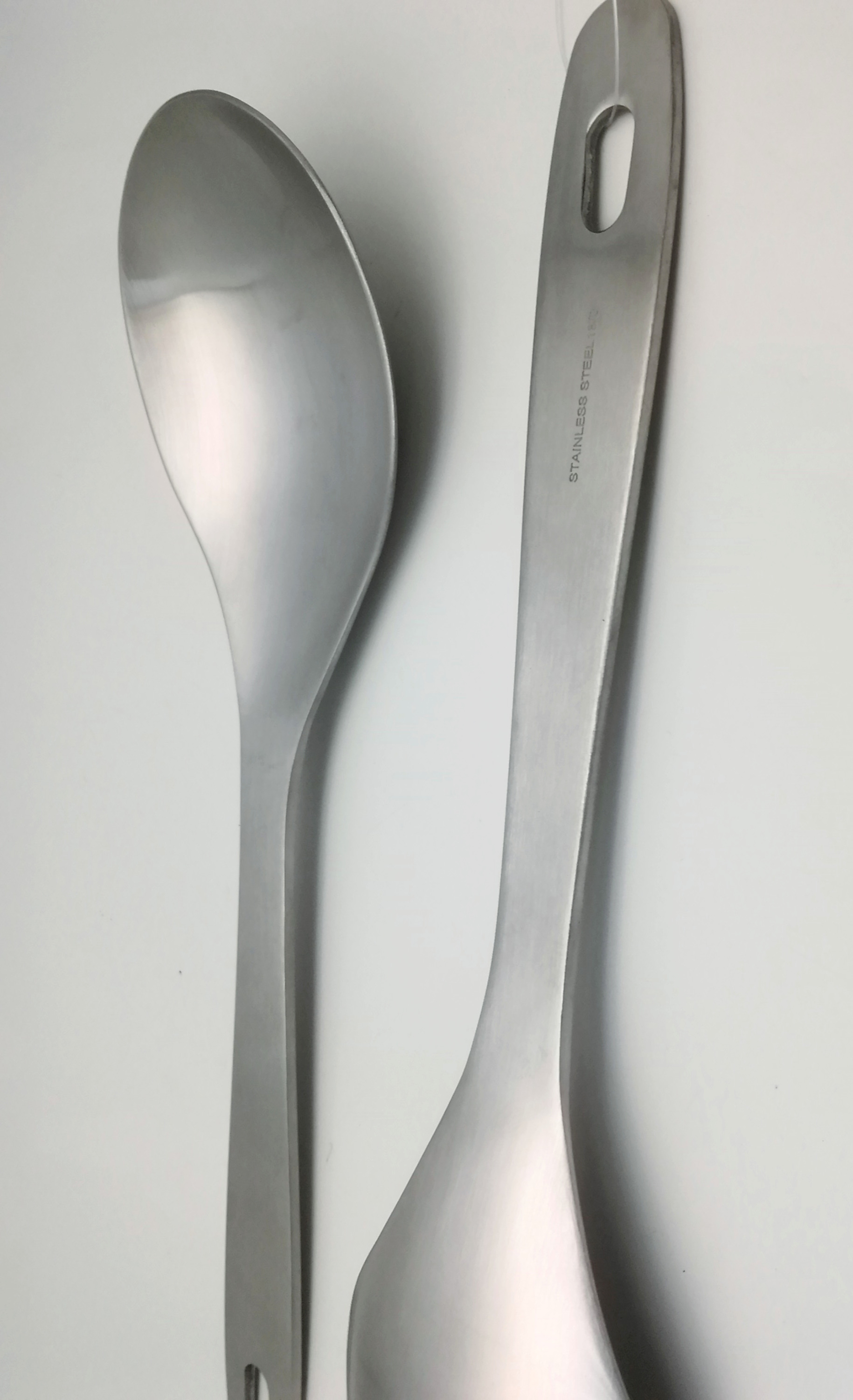 Stainless steel salad spoon