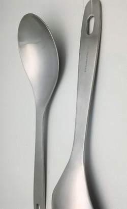 Stainless steel salad spoon