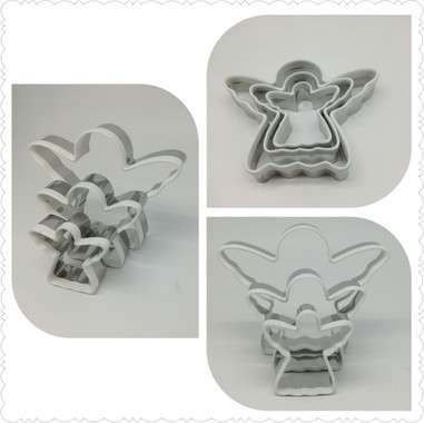 Stainless steel Griped Angel Cookie Cutter
