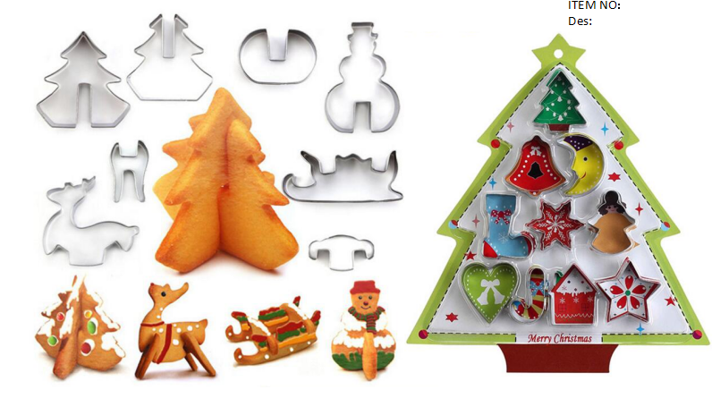 cookie cutter 3d xmas