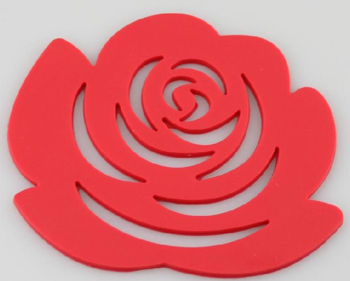 silicone trivet rose