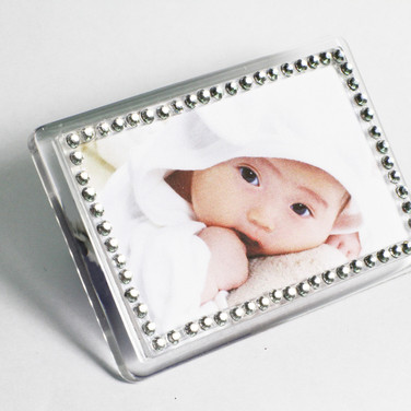 Blinking Mini Frame with Rhinestones