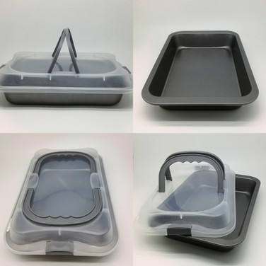 Bake Tray ith Plastic Cover