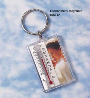 Keychain with Thermometer