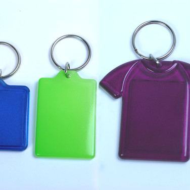 Colour Backed Keychain