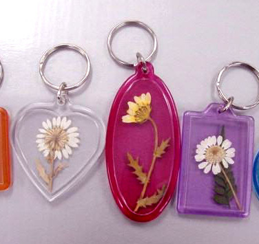 Dried Flowers in Keychain