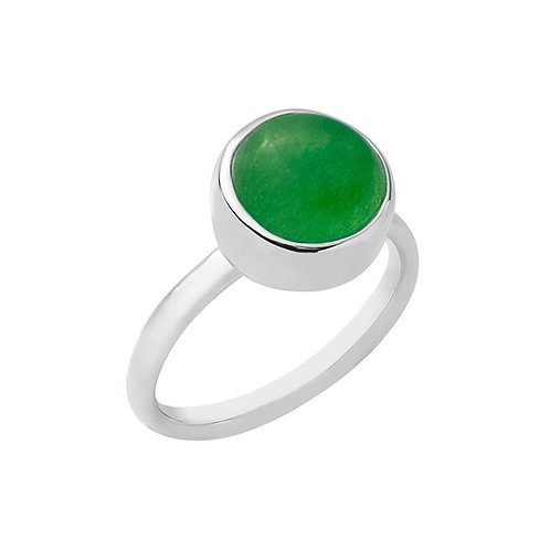 anel botão solo - jade