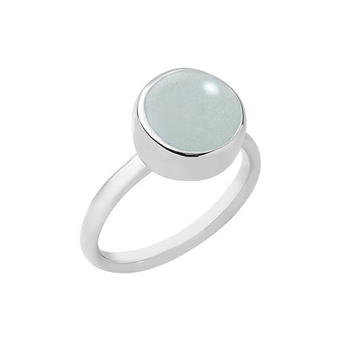 anel botão solo - dolomita água