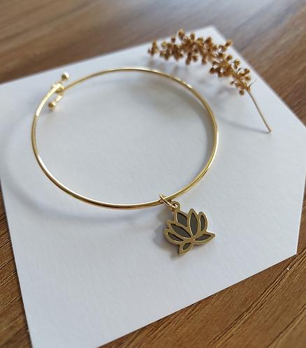 bracelete lótus ouro