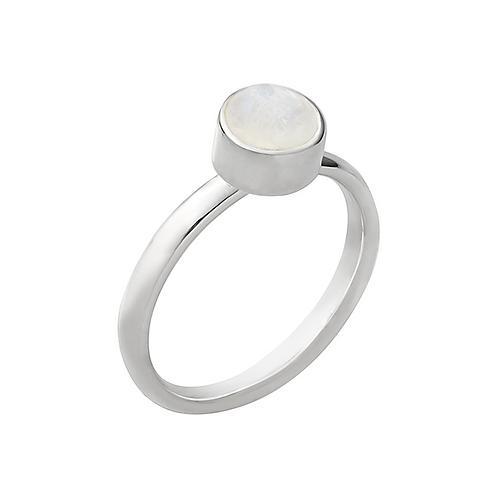 anel pin solo - pedra da lua