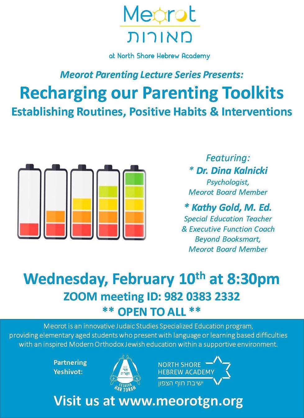 Meorot Parenting Workshop Cohen-Gold 202