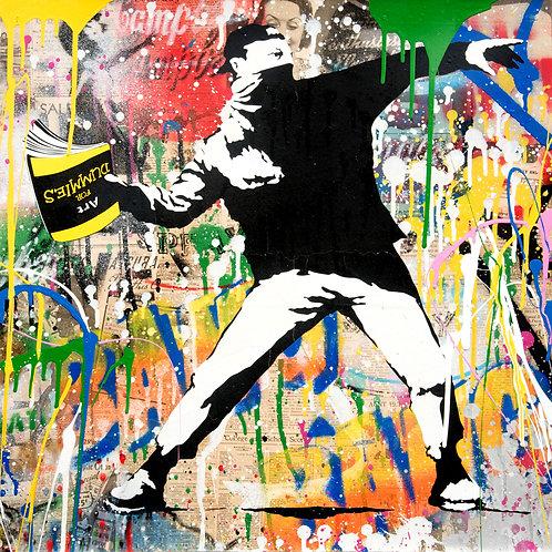 Mr Brainwash - Banksy Thrower